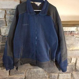 Men's XL Fleece Columbia Jacket Blue & Grey
